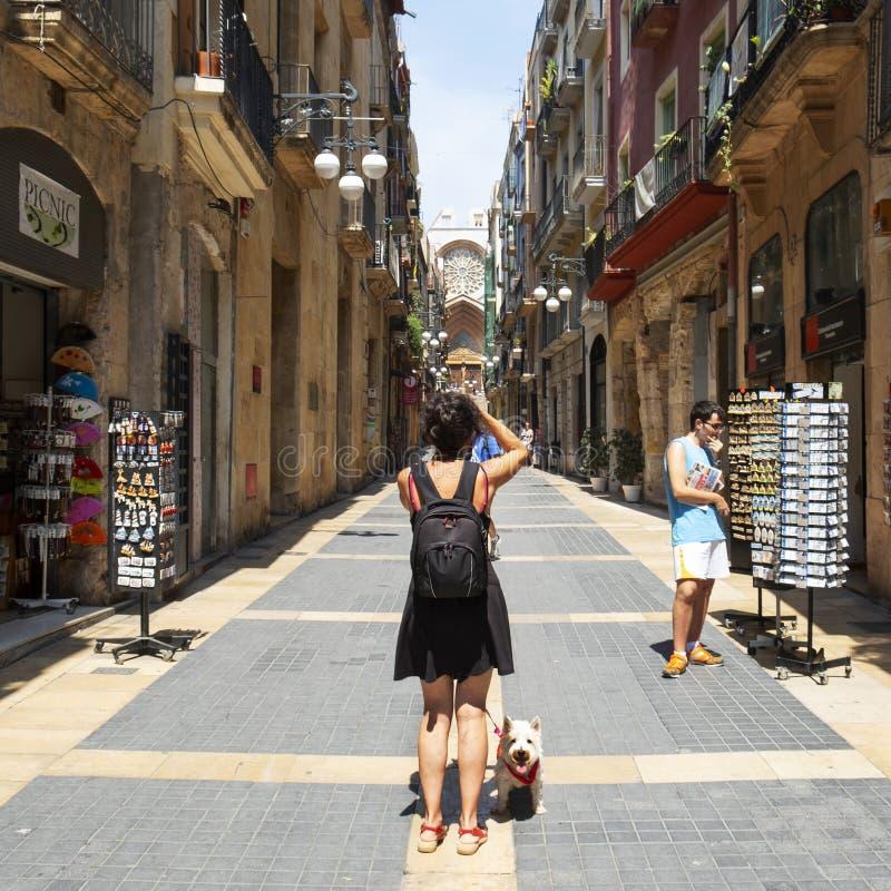 старый городок Испании tarragona стоковая фотография