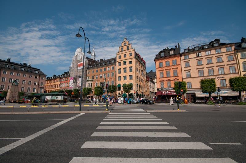 Старый городок и область Kornhamnstorg, Стокгольм, Швеци стоковые фото