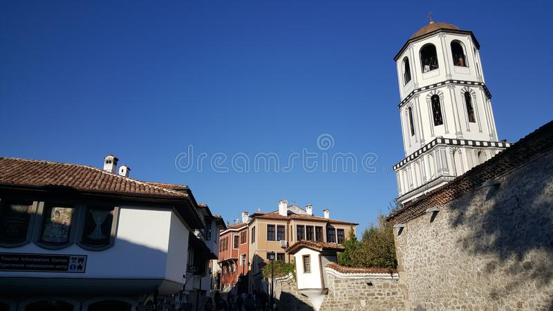 Старый городок Пловдива Болгарии стоковая фотография