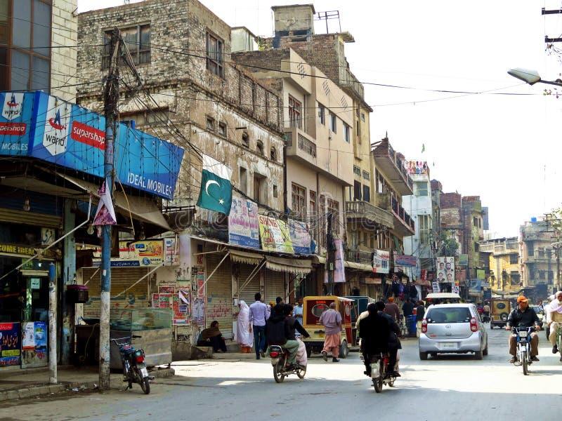 старый городок Равалпинди, Пакистана стоковые фотографии rf