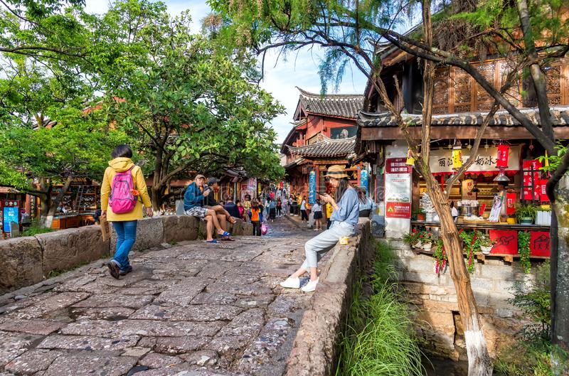 Старый городок Lijiang, Китая стоковые фотографии rf