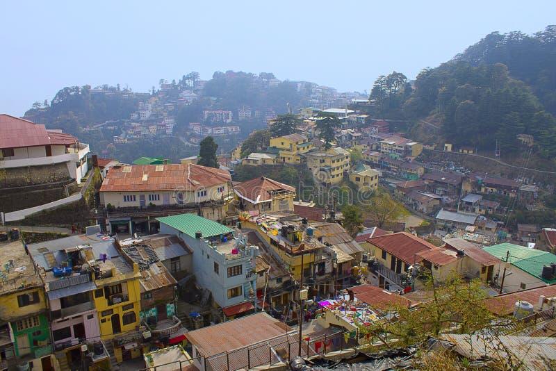 Старый городок Mussoorie, Uttarakhand стоковое изображение