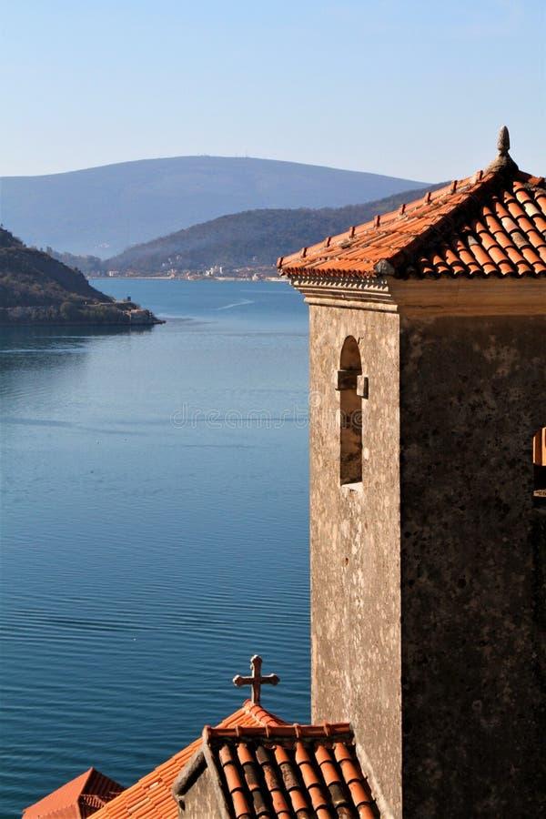 Старый городок Perast - Черногория стоковые изображения rf