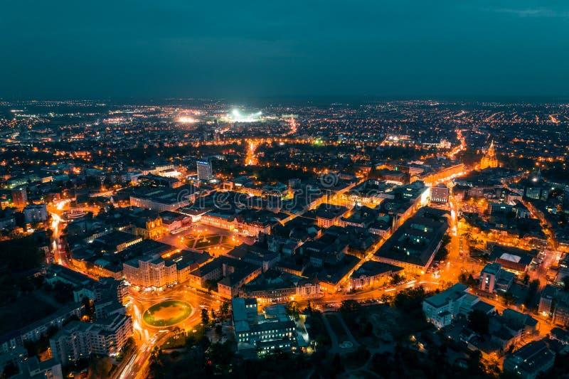 Старый городок Timisoara в ноче стоковое фото
