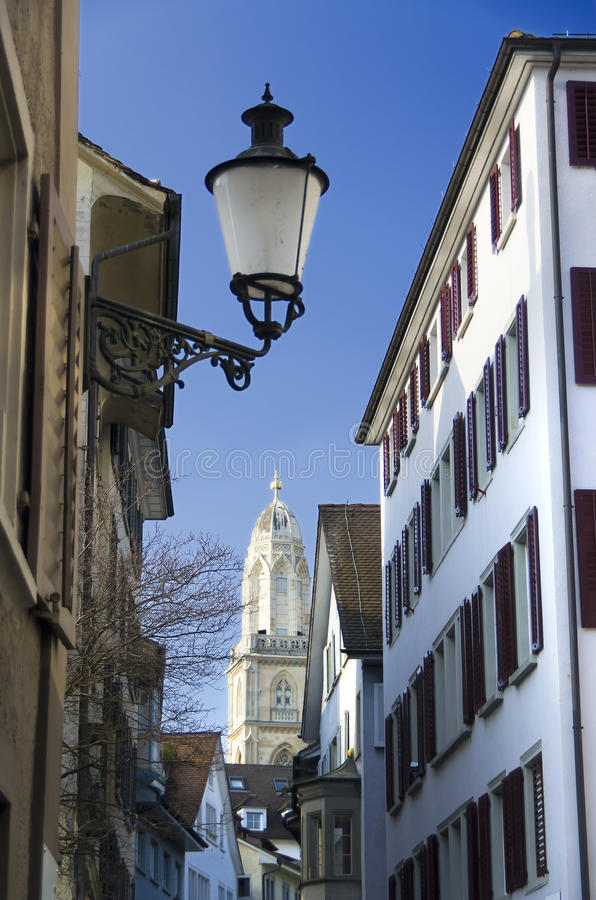 старый городок zurich стоковые изображения rf