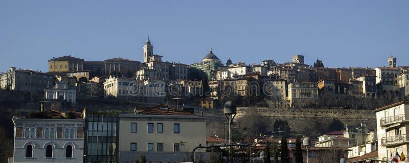 Старый город Бергама в Италии стоковое изображение rf