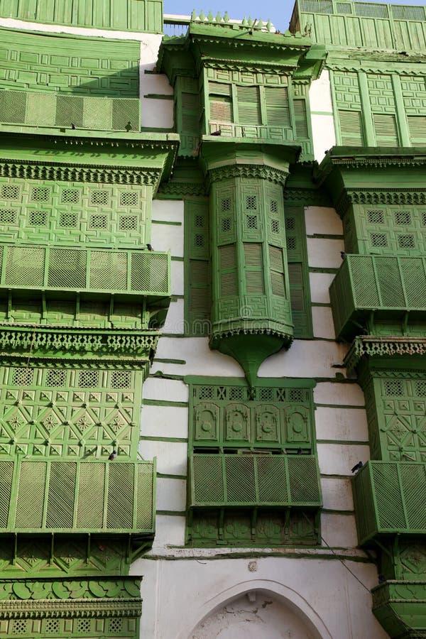 Старый город в Джидде, Саудовская Аравия известная как ` Джидды ` историческое Здания и дороги старых и наследия в Джидде согласо стоковое фото
