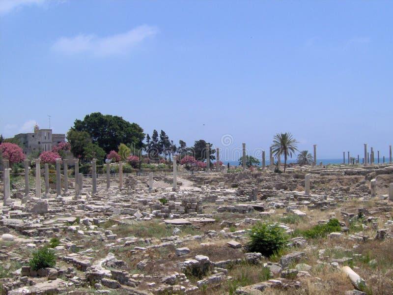 Старый город покрышки, южного Ливана стоковые изображения