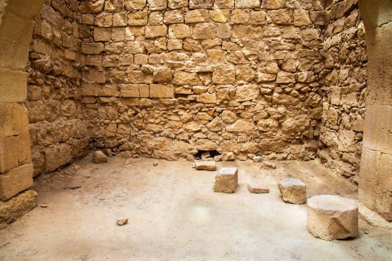 Старый город Nabatean Mamshit стоковые фотографии rf