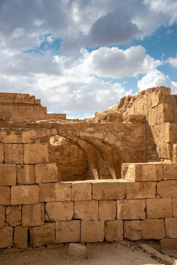 Старый город Nabatean Mamshit стоковые изображения
