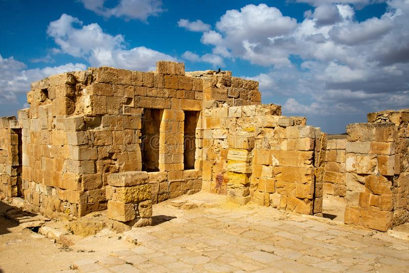 Старый город Nabatean Mamshit стоковое изображение