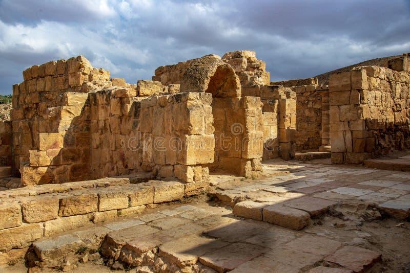 Старый город Nabatean Mamshit стоковые фото