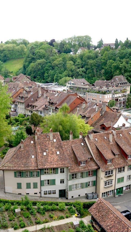Старый город городка на bridg стоковая фотография