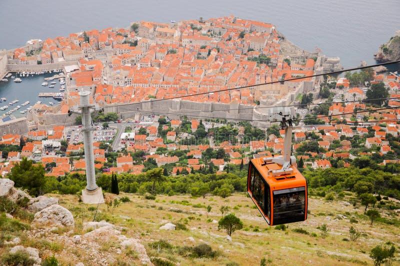 Старый город Дубровника увиденный сверху стоковое фото
