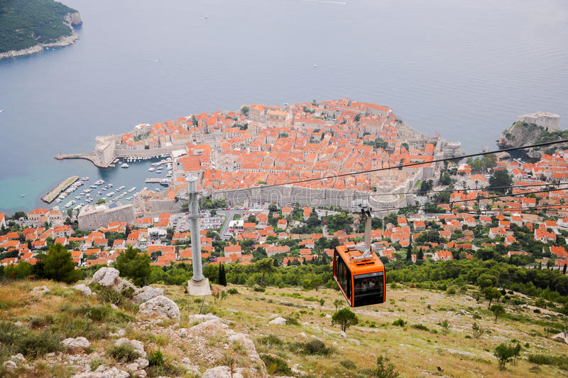 Старый город Дубровника увиденный сверху стоковое изображение rf