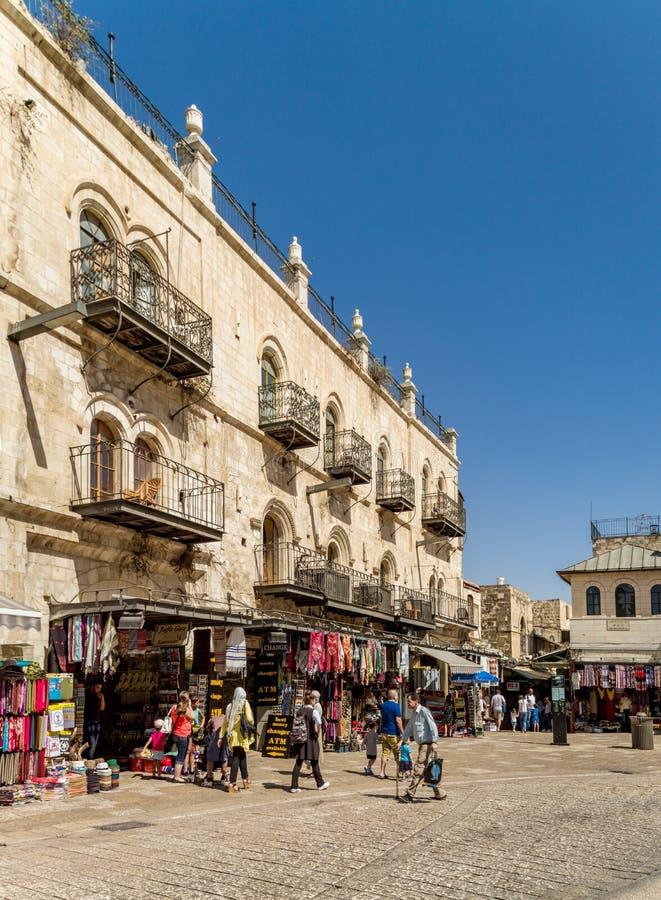 Старый город Иерусалима, Израиля стоковые фотографии rf