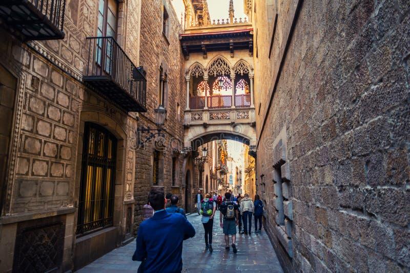 Старый городок Барселоны, Испании стоковое фото rf