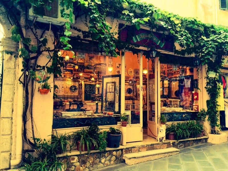 Старый городок в Корфу стоковые фотографии rf