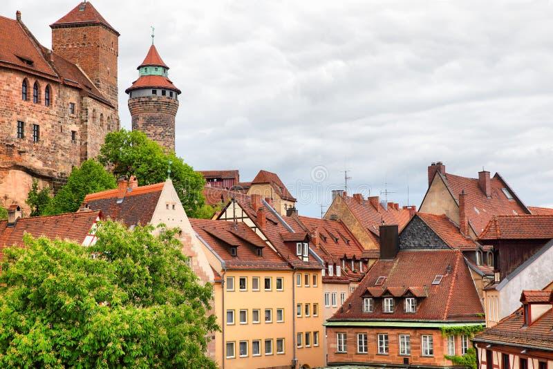 Старый городок в Нюрнберге стоковое изображение rf