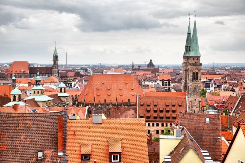 Старый городок в Нюрнберге стоковые изображения