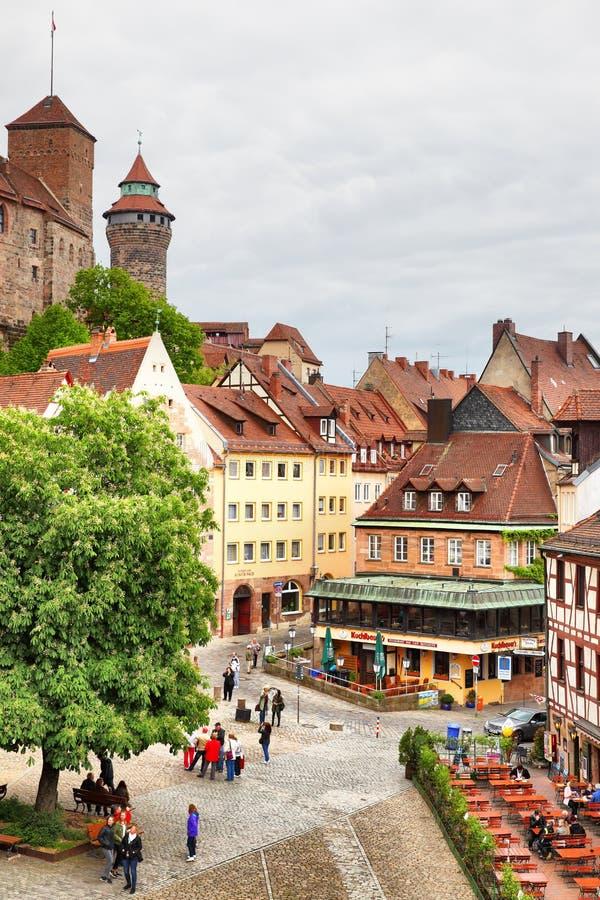 Старый городок в Нюрнберге стоковое изображение