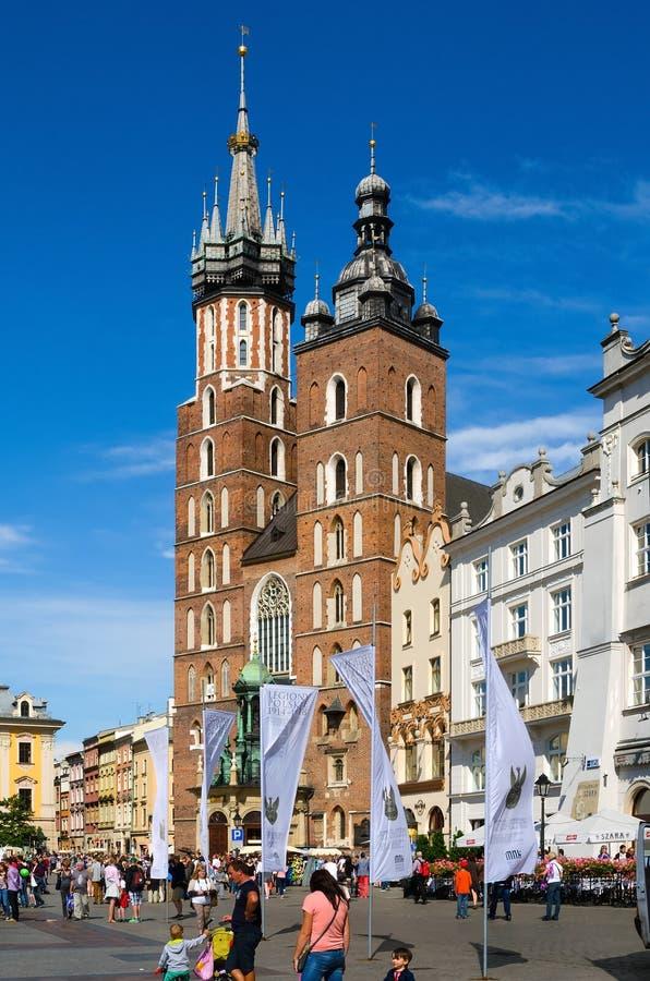 Старый городок в Cracow, Польше стоковое фото rf