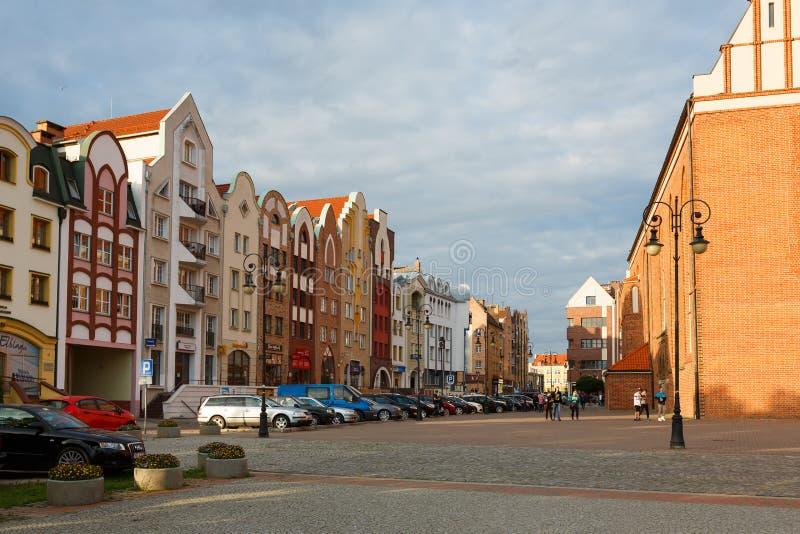 Старый городок в Elblag стоковое фото