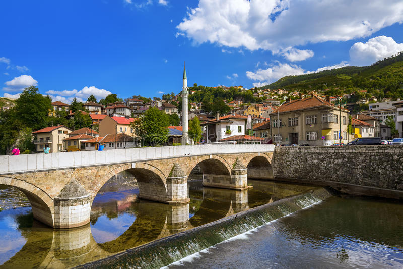 Старый городок Сараево - Босния и Герцеговина стоковые фото