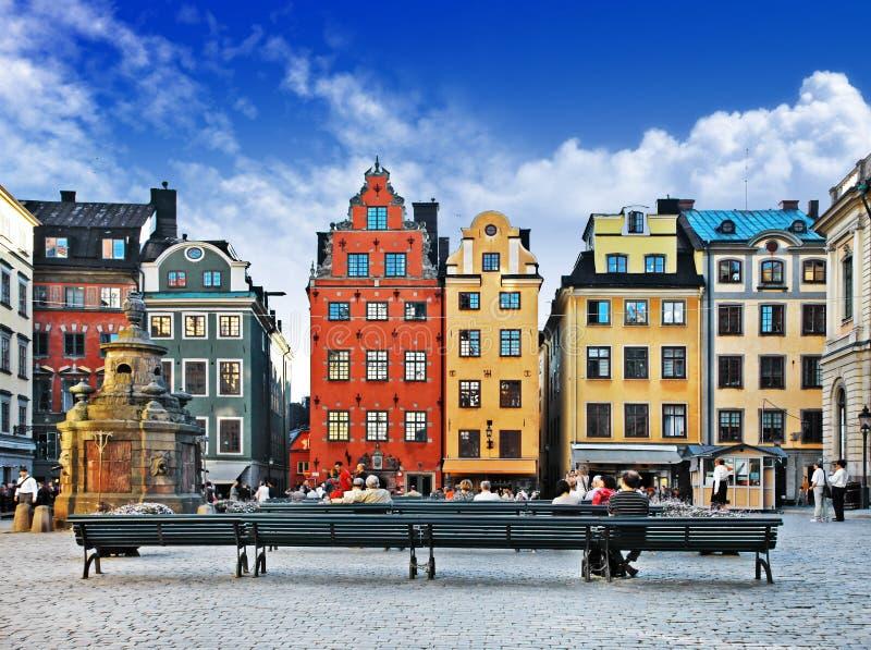 Старый городок. Стокгольм стоковые изображения rf