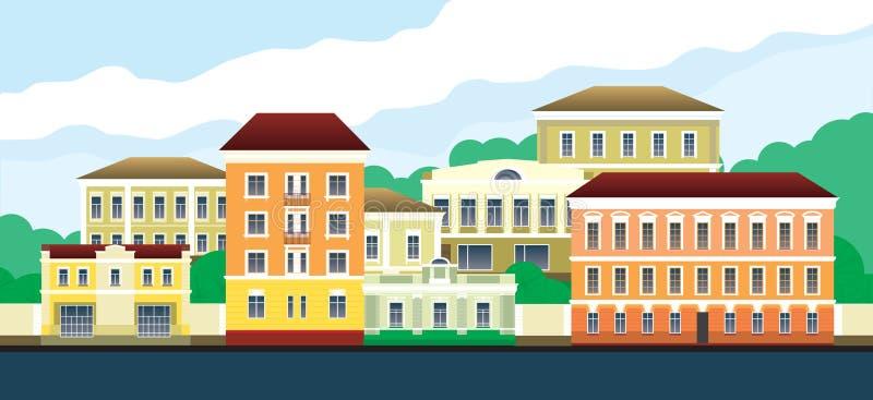 Старый городок бесплатная иллюстрация