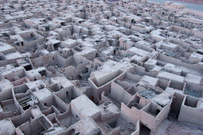 Старый городок al-Ula стоковые фотографии rf