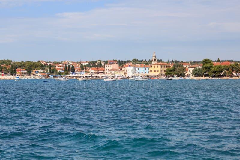 Старый городок Fazana Хорватия стоковое фото rf