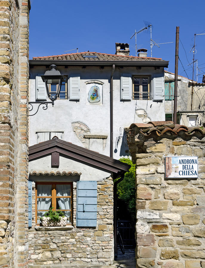 Старый городок Grado стоковые фото