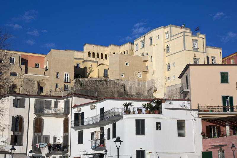 Старый городок Pozzuoli стоковое фото