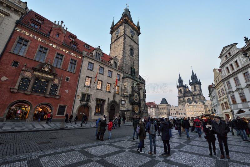 старый городок prague квадратный стоковое изображение