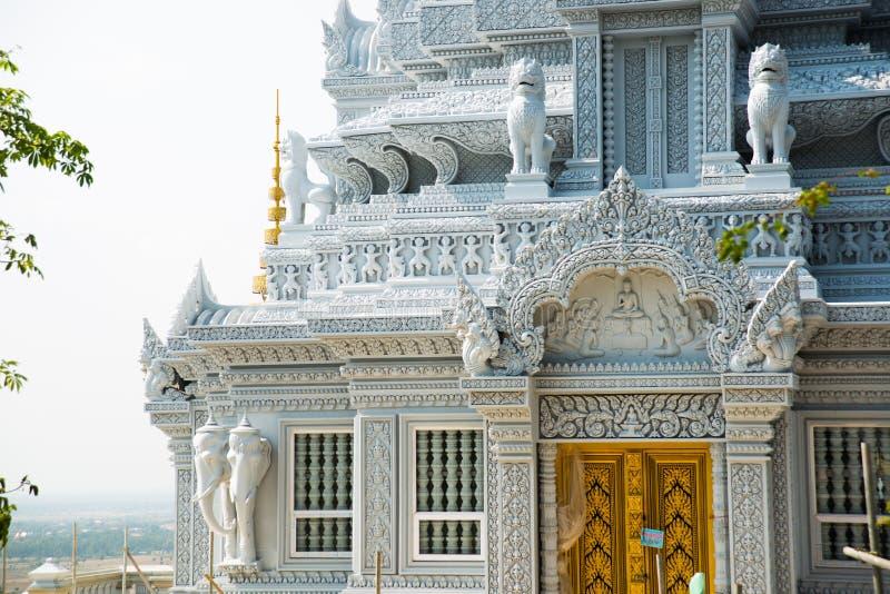Старый городок Udong Виски на горе Камбоджа стоковые изображения rf