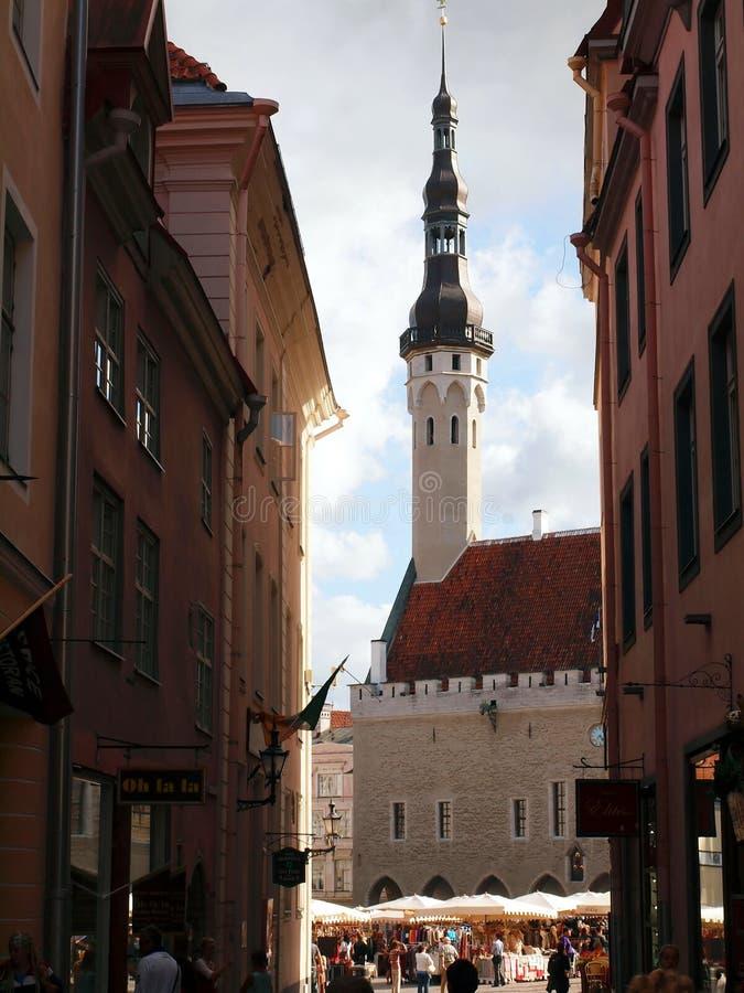 Старый город, Таллин, Эстония. Лопасть погоды стоковое фото