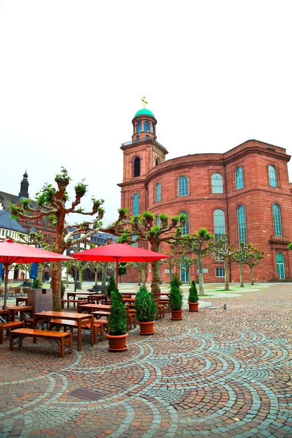 Старый город, Франкфурт, Германия стоковые изображения rf