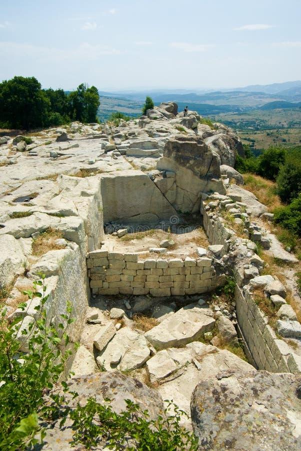 Старый город Thracian Perperikon стоковое изображение rf