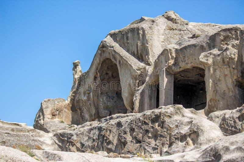 Старый город Uplistsikhe подземелья в области Кавказ, Georgia стоковые изображения