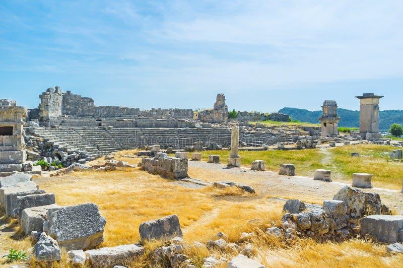 Старый город Xanthos стоковая фотография rf