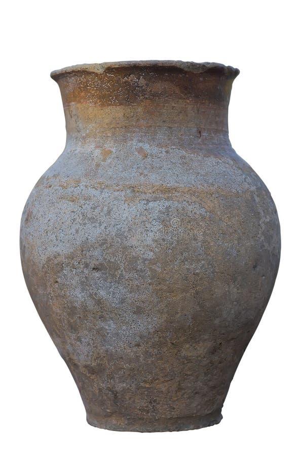 Старый глиняный горшок. стоковое изображение