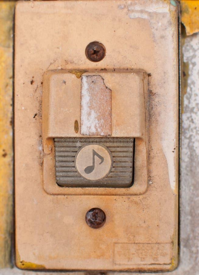 Старый дверной звонок стоковое изображение