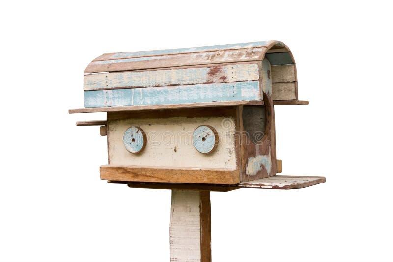 Старый деревянный почтовый ящик стоковая фотография