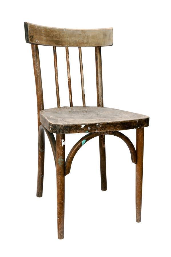 Старый деревянный стул стоковые фотографии rf