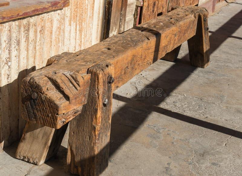 Старый деревянный тротуар стоковые фотографии rf