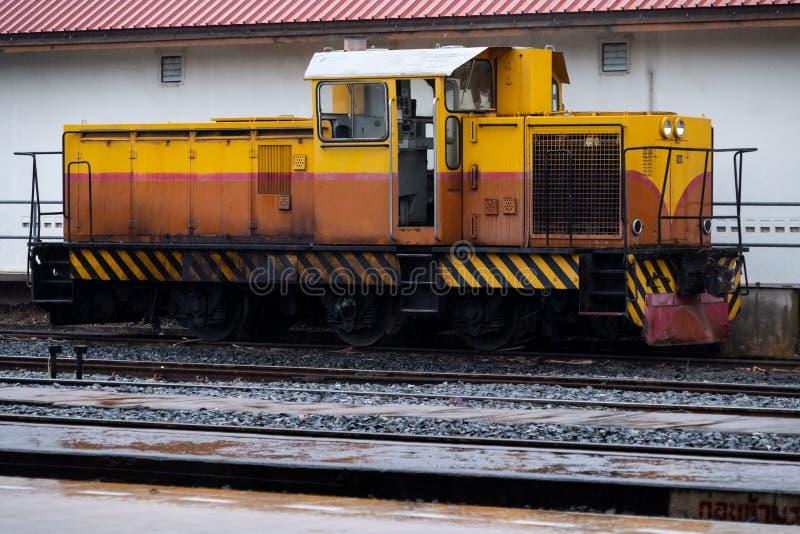 Старый дизельный гидравлический локомотив стоковое фото rf