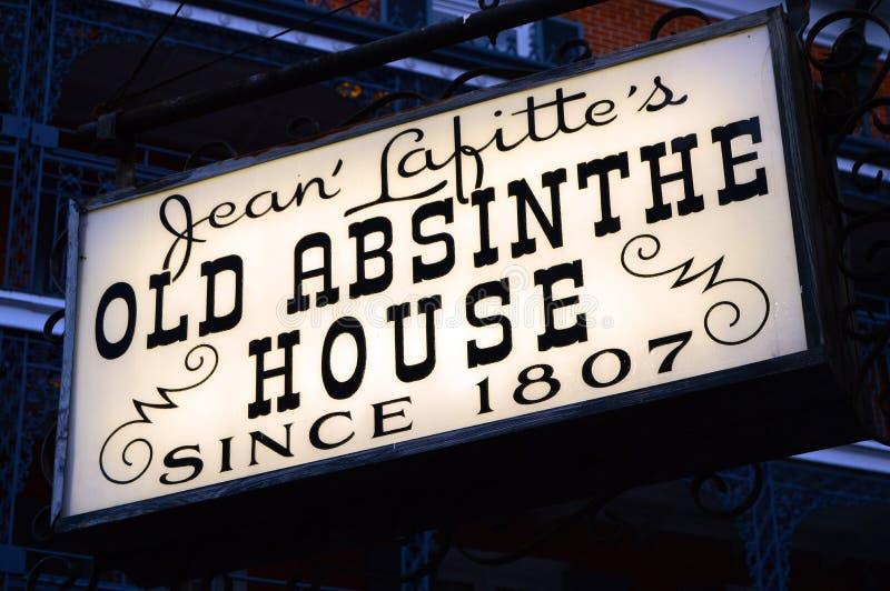 Старый дом абсента, Новый Орлеан стоковая фотография