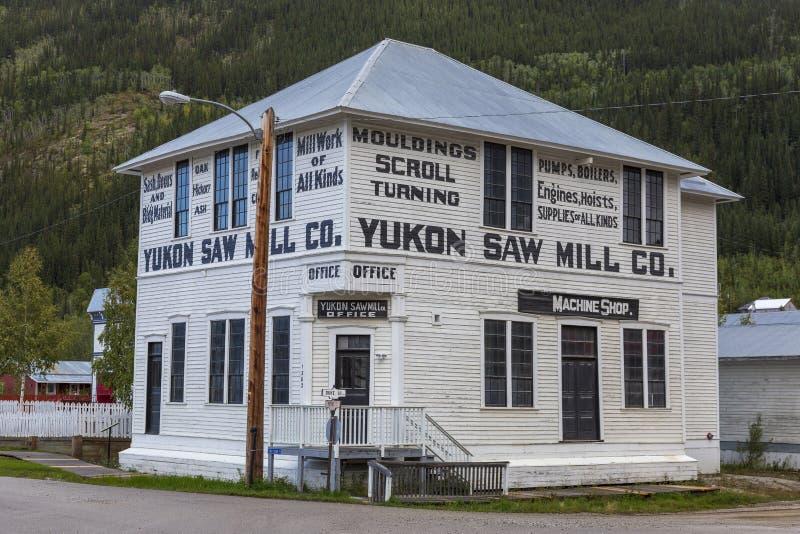 Старый дом в Dawson Юконе Канаде стоковое изображение