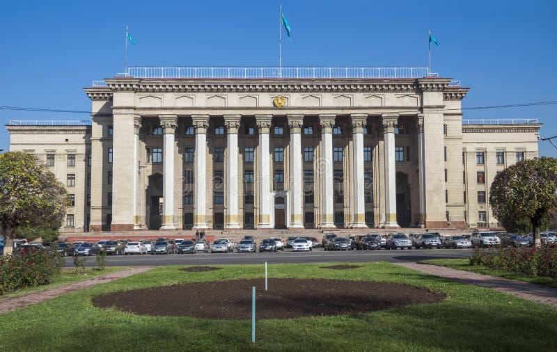 Старый Дом правительства в Алма-Ате стоковое фото